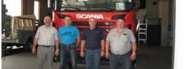Prevzem novega vozila, Boštjan Repovž, Jože Lazar, Vincenc Knez in Simon Šmit, 15.6.2016 (foto: Boštjan Repovž)