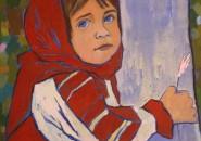 Umetnica Elena na  4. mednarodni likovni koloniji  DOSOR